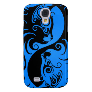 Blue and Black Yin Yang Cats Galaxy S4 Case