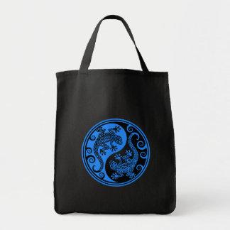 Blue and Black Yin Yang Lizards