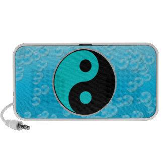 blue and black yin yang speaker