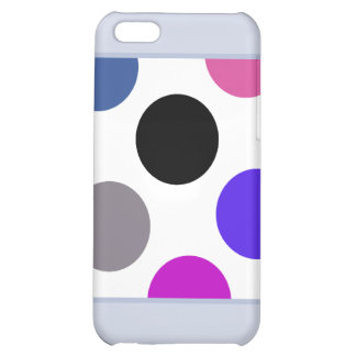 Blue And Brown Colorful Dots iPhone 5C Case