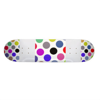 Blue And Brown Colorful Dots Skate Decks