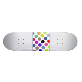 Blue And Brown Colorful Dots Skate Deck