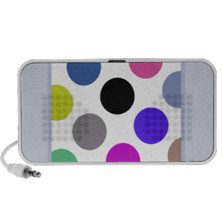 Blue And Brown Colorful Dots Portable Speakers