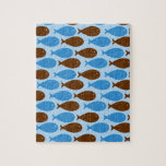 Blue and Brown Fish Puzzle