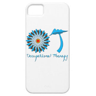 Blue and Brown Flower Power Barely There iPhone 5 Case