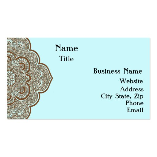 Collections of henna business cards page2 for Henna business cards