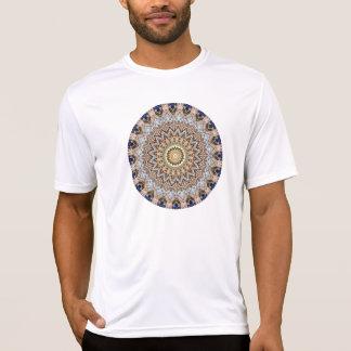 Blue and Brown Mandala Kaleidoscope T-Shirt