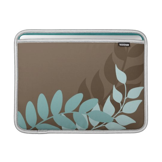 Blue and Brown Mod Vines Macbook Air Sleeve