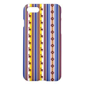 Blue and brown peruvian Llama Pattern iPhone 8/7 Case