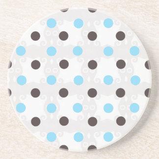 Blue and Brown Polka Dot Coaster
