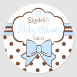 Blue and Brown Polka Dots-Baby Shower