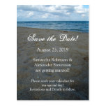 Blue and Brown Sands ~ Beach Wedding Post Card