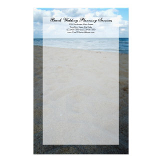 Blue and Brown Sands ~ Beach Wedding Stationery