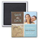 Blue and Brown Save the Date Photo Magnets