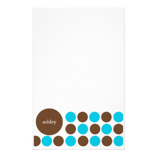 Blue and Brown Stationery