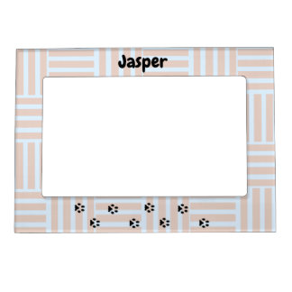 Blue and Brown Striped Pet Dog  Picture Frame