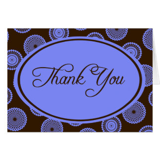 Blue and Brown Thank You cards