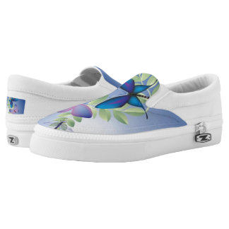 Blue and Butterflies Printed Shoes