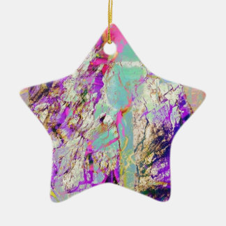 blue and colorful ceramic star decoration