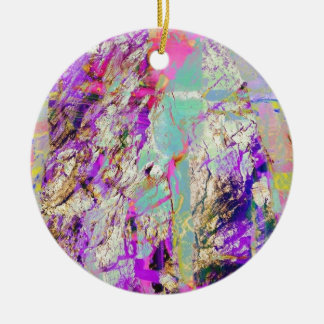 blue and colorful christmas tree ornaments