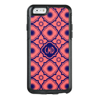 Blue And Coral Red Quatrefoil OtterBox iPhone 6/6s Case