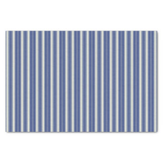 Blue and Cream Stripes Tissue Paper