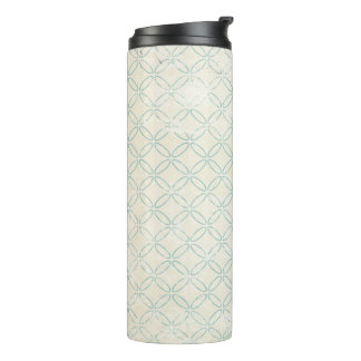 Blue and Cream Vintage Design Insulated Tumbler Thermal Tumbler
