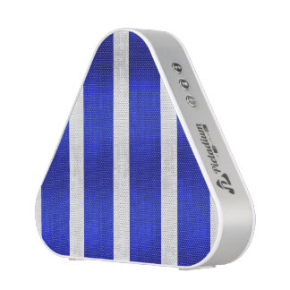 Blue and faux silver stripes