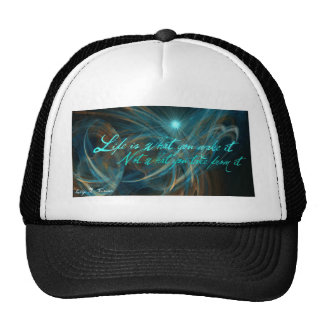 Blue and Gold Abstract Art Trucker Hats