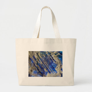 Blue and Gold Abstract Tote Bags