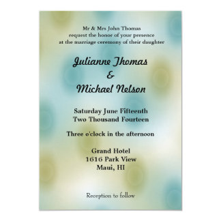 Blue and Gold Abstract Custom Invites