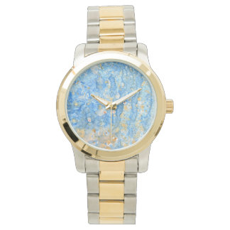 Blue and Gold Abstract Watch