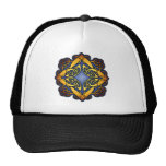 Blue and Gold Celtic Knotwork Mesh Hat