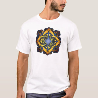 Blue and Gold Celtic Knotwork T-Shirt