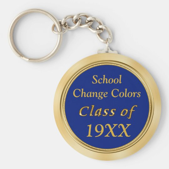 Blue and Gold Class Reunion Favours Your TEXT
