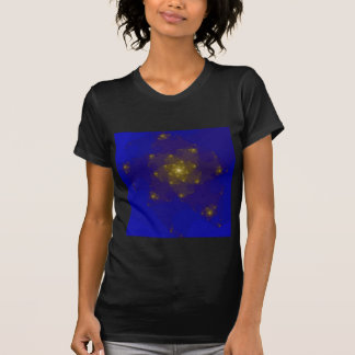 Blue and Gold Color Fractal Design. T-Shirt