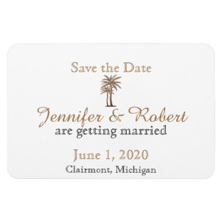 Blue and Gold Compass Rose Wedding Save the Date Rectangular Photo Magnet