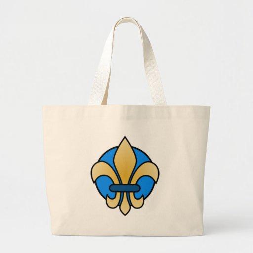Blue and Gold Fleur De Lis Tote Bag