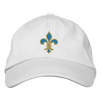 Blue and Gold Fleur De Lis Hat Baseball Cap
