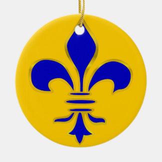 Blue and Gold Fleur De Lis - Ornament