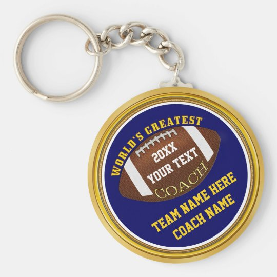 Blue and Gold Football Coach Gifts with YOUR
