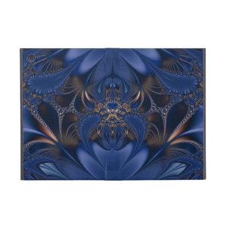 Blue and Gold Fractal Spider iPad Mini Case