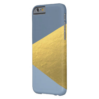 Blue and Gold Geometric iPhone Case