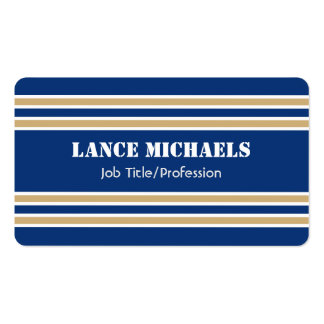 Blue and Gold Jersey Pack Of Standard Business Cards