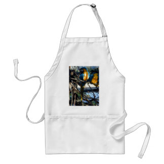 blue and gold macaw aprons