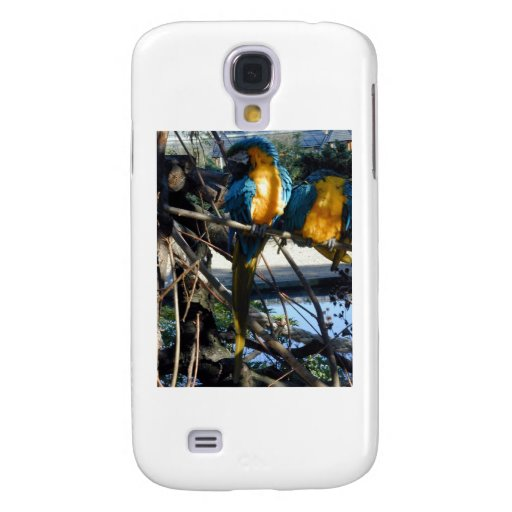blue and gold macaw galaxy s4 cases