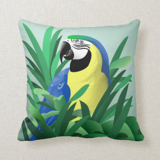 Blue and Gold Macaw Cushion