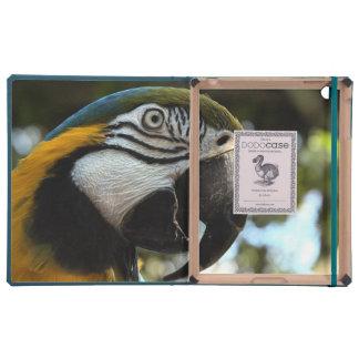 Blue and Gold Macaw Dodo iPad Folio Cover