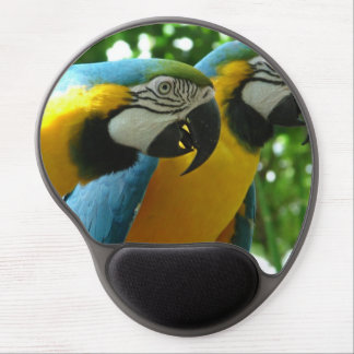 Blue and Gold Macaw Gel Mouse Pad