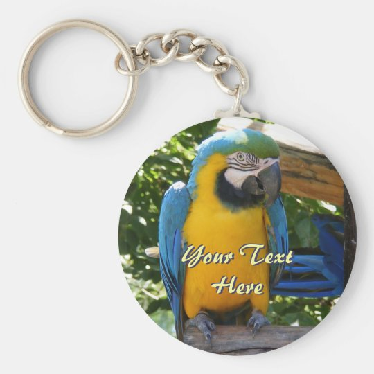 Blue and Gold Macaw Keychain